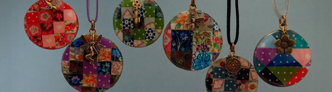 Patchwork pendants